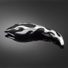 Motocyklová zrcátka Highway Hawk FLAME, Levá i Pravá strana, nastavitelné, černá/chrom (2ks)