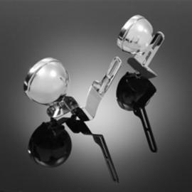 Držák pro přídavná světla s montáží na Plexi štít DE LUXE