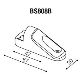 Montážní adaptér BS808B pro zpětná zrcátka RIZOMA do kapotáže - pro motocykly KAWASAKI ZX-10R Ninja, černý, (1kus)