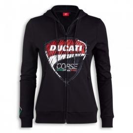 Dámská mikina Ducati Corse Sketch černá