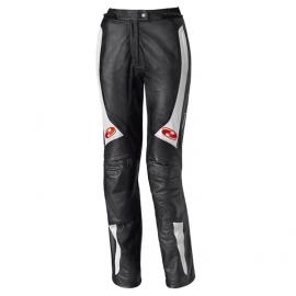Dámské kožené moto kalhoty Held SARANA černá/bílá