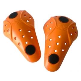 Chrániče kolen d3o se suchým zipem, uni, oranžové