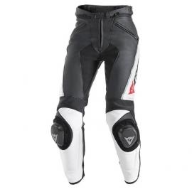 Dámské kožené moto kalhoty Dainese DELTA PRO C2 PELLE LADY černá/bílá
