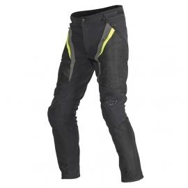 Dainese pánské sportovní moto kalhoty DRAKE SUPER AIR TEX černá/fluo žlutá/šedá, textil