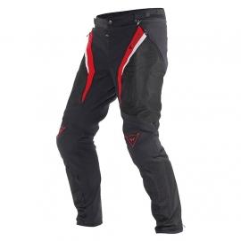Dainese pánské sportovní moto kalhoty DRAKE SUPER AIR TEX černá/červená/bílá, textil