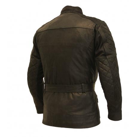 Pánska kožená moto bunda Spark Romp Black