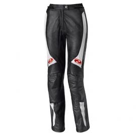 Dámské kožené moto kalhoty Held SARANA (zkrácená délka nohavic) vel.44 černá/bílá