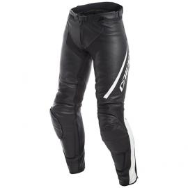 Dámské kožené moto kalhoty Dainese ASSEN LADY černá/bílá