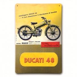 Plechová cedule Ducati 48