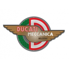 Plechová cedule Ducati Meccanica Bologna