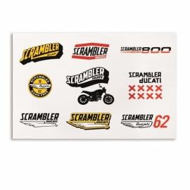 Samolepky Ducati Scrambler Lifestyle Logo
