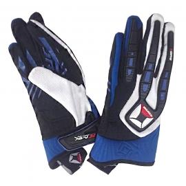 Textilné moto rukavice Kore Cross, modré