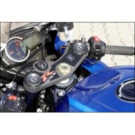 Dekorační samolepka vidlicového můstku Suzuki GSX-R karbon vzhled, originál