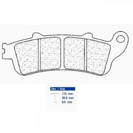 Brzdové destičky CARBONE LORRAINE 2602 SBK3 (XBK5)