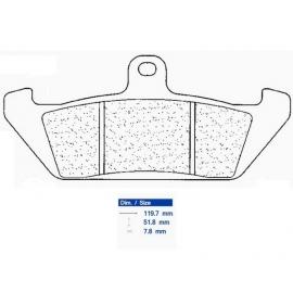 Brzdové destičky CARBONE LORRAINE 2801 S1 (S4)