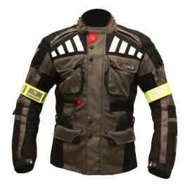 Pánska textilná moto bunda Spark GT Turismo, tmavá