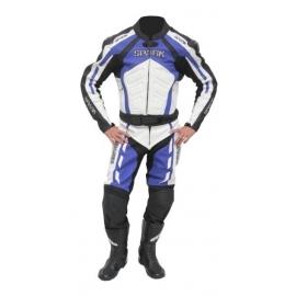 Pánské kožené moto kalhoty Spark GP, modré