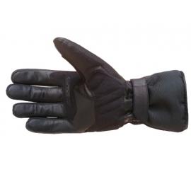 Pánske kožené moto rukavice Spark STZ, čierne