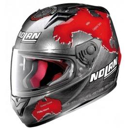 Moto helma Nolan N64 Gemini Replica C Checa Scratched Chrome 82