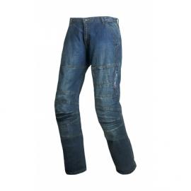 Dámské textilní moto kevlar kalhoty Track, modré