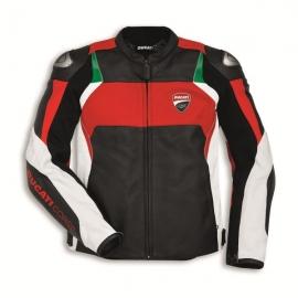Kožená bunda Ducati Corse C3 červeno-bílá