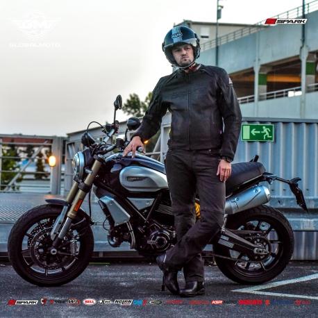 Pánské kožené moto kalhoty Spark Motostar - S