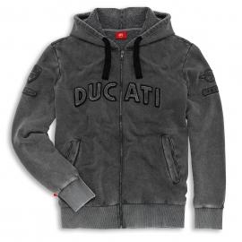 Pánská mikina Ducati Historical s kapucí, originál