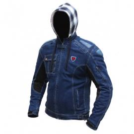 Pánska kevlarová moto bunda Spark Hawk, modrá