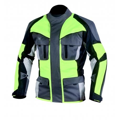 Pánska textilná moto bunda Cyber Gear Tour Long, fluo