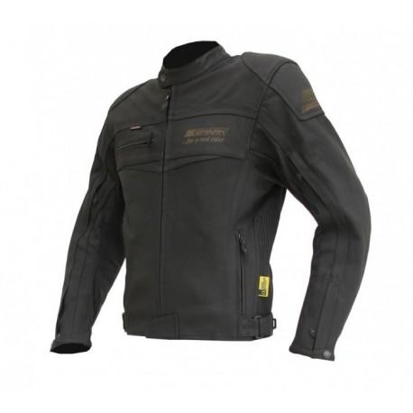 Pánska kožená moto bunda Spark Mike, čierna