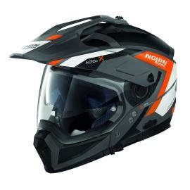 Moto helma Nolan N70-2 X Grandes Alpes N-Com Flat Lava Grey 24