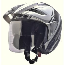 Moto helma Cyber U-388 bílo černá - L