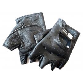 Moto rukavice Bikersmode bezprsté, čierne
