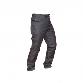 Pánske kožené moto nohavice Spark Jeans matné, čierna