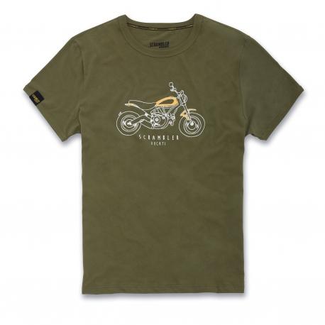 Pánské tričko Ducati Scrambler Heritage