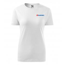 Dámske tričko Suzuki, biele