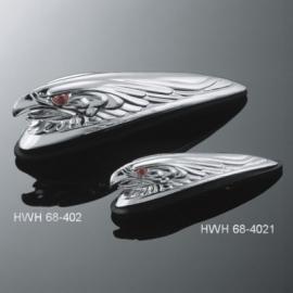 Motocyklové světlo na blatník Highway Hawk EAGLEHEAD, 120mm, chrom 1ks