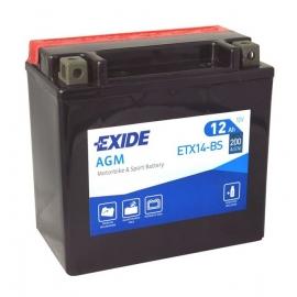 Motobaterie EXIDE ETX14-BS
