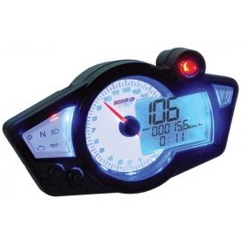 Digitální tachometr KOSO RX1N GP bílý/modré podsvícení