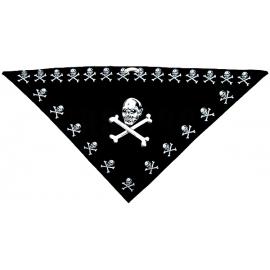 Třícípý šátek motiv Lebka velká