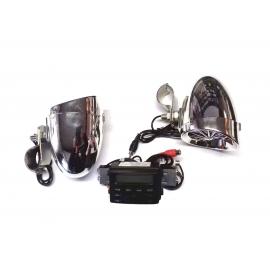 Lexin LXAMP723 vodeodolné reproduktory na Harley-Davidson