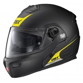 Moto helma Grex G9.1 Evolve Vivid N-Com Flat Black 37