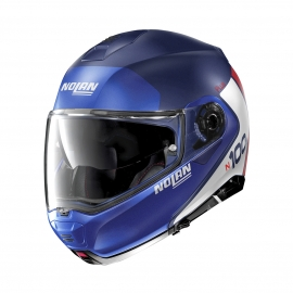 Moto helma Nolan N100-5 Plus Distinctive N-Com Flat Imperator Blue 29