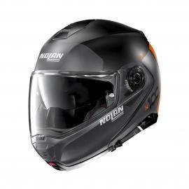 Moto helma Nolan N100-5 Plus Distinctive N-Com Flat Black 26