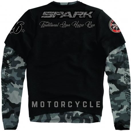 Pánské tričko Spark L 001 dlouhý rukáv, černé