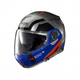 Moto helma Nolan N100-5 Consistency N-Com Scratched Chrome 29
