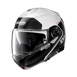 Moto helma Nolan N100-5 Plus Distinctive N-Com Metal White 22