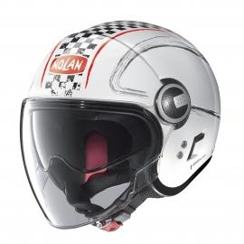 Moto helma Nolan N21 Visor Getaway Metal White 60