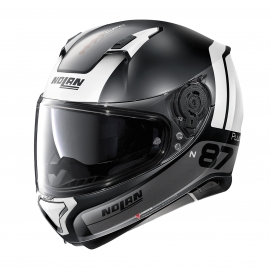 Moto helma Nolan N87 Plus Distinctive N-Com Flat Black 23