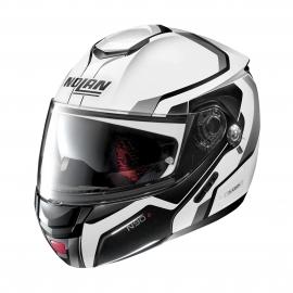 Moto helma Nolan N90-2 Meridianus N-Com Metal White 31